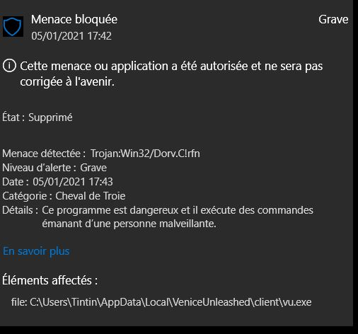 VU PROBLEME ANTIVIRUS WINDOWS